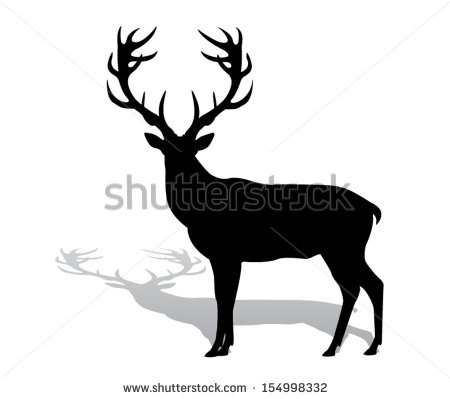 Deer Silhouette Stock Images, Royalty.