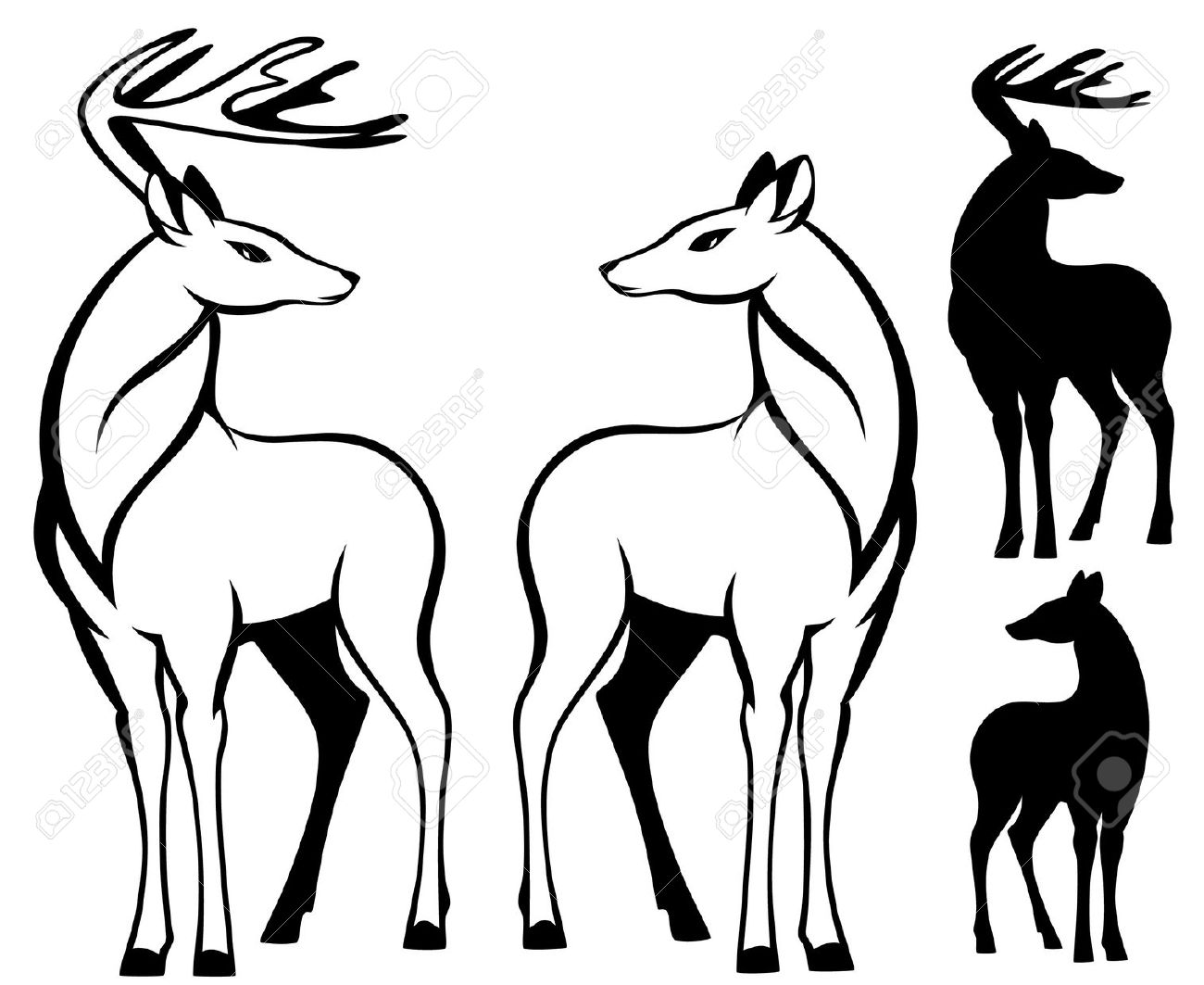 15,424 Deer Silhouette Cliparts, Stock Vector And Royalty Free.