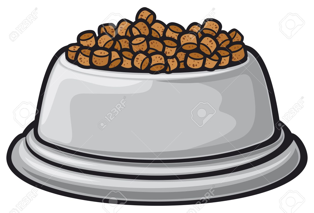 Bowl Of Dog Food Clipart.