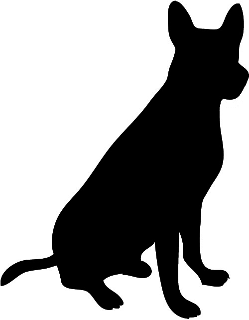 Free Dog Silhouette Clip Art.