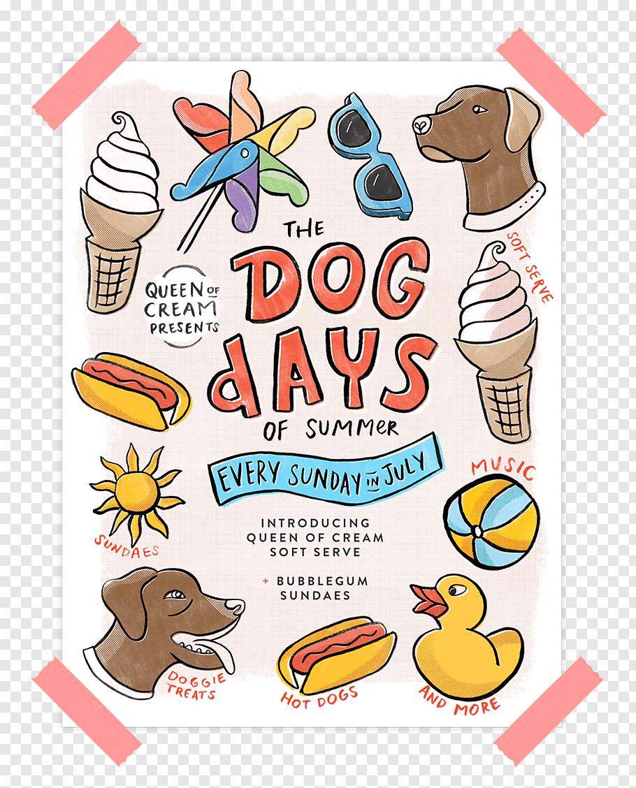 Summer Poster, Dalmatian Dog, Cartoon, Summer , Dog Days.
