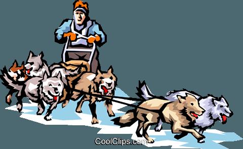 Clipart Dog Sled.