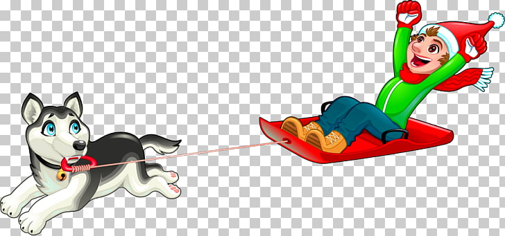 Dog Sled , hand.