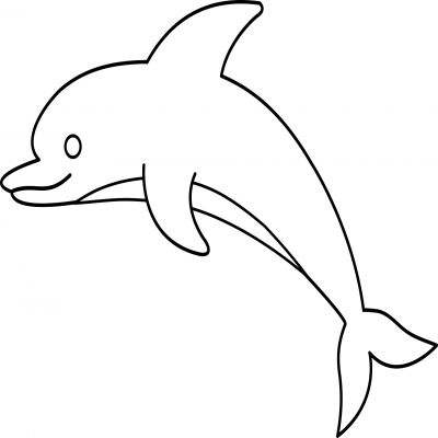 Dolphin Clipart Black And White.