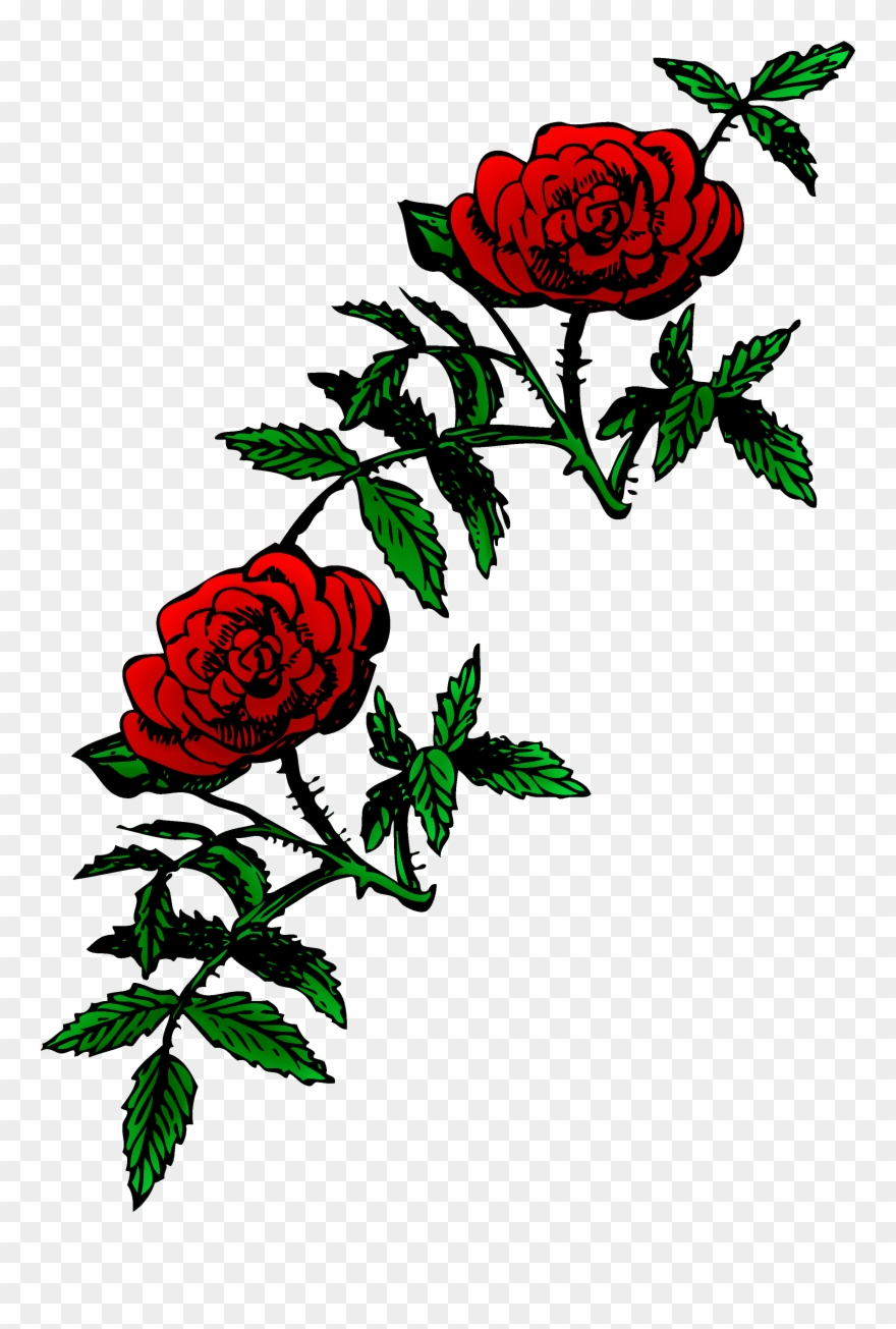 Roses Public Domain Rose Decoration Free Clip Art.