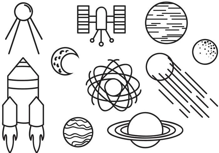 Free Doodle Space Vectors.