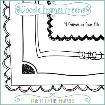Doodle Frames Freebie.