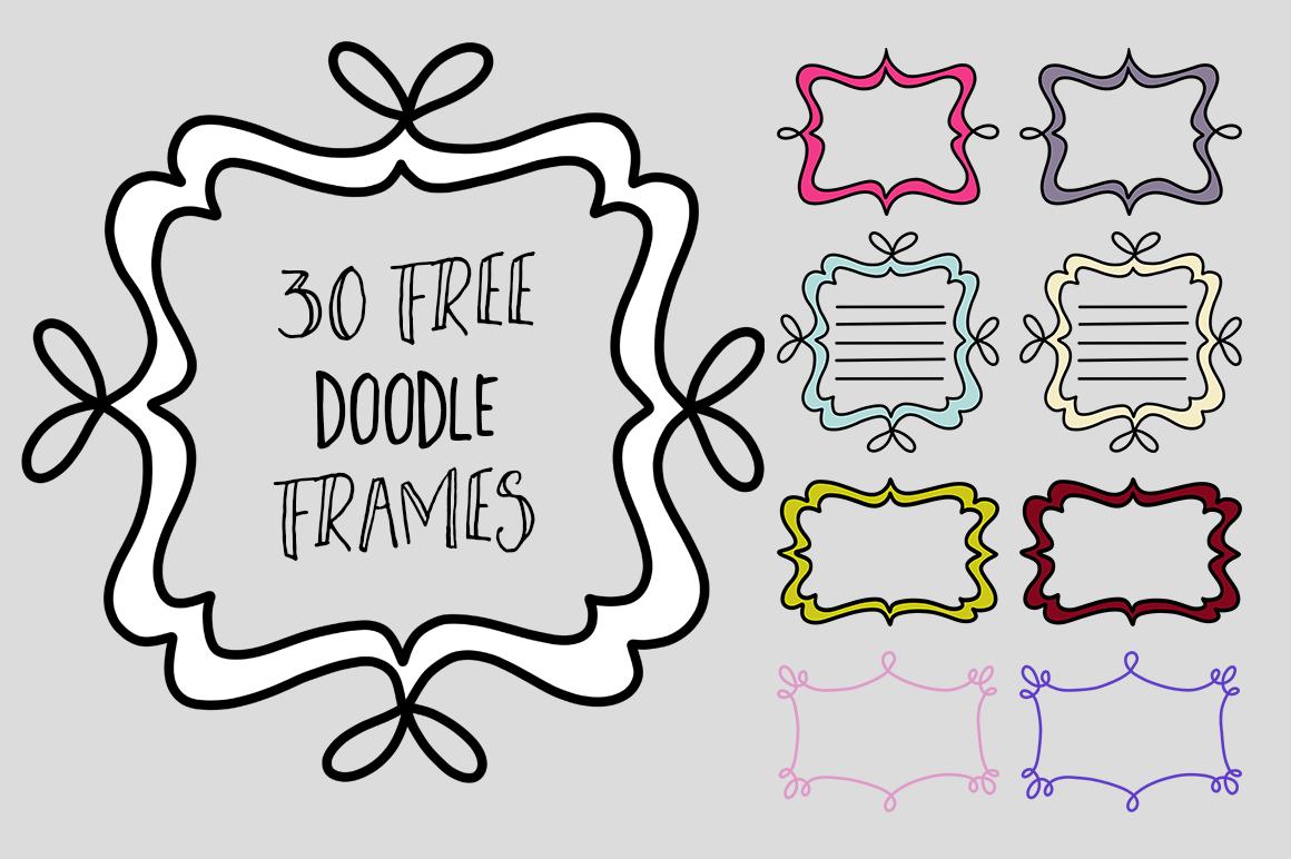 free doodle frame clip art graphics.
