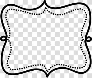 Doodle Frame transparent background PNG cliparts free.