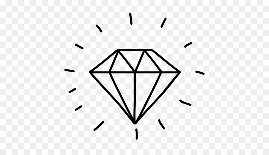 Diamond Doodle PNG Drawing Clipart download.