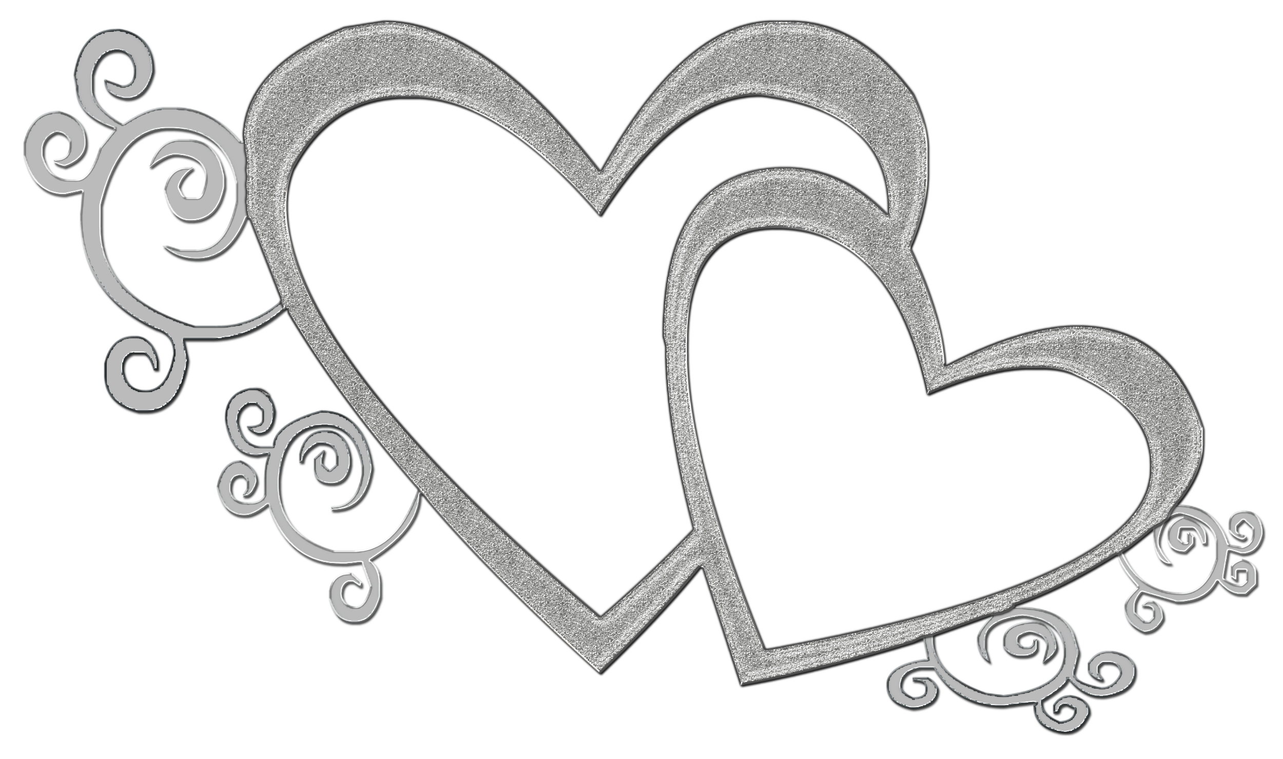 Double Heart Wedding Clipart.