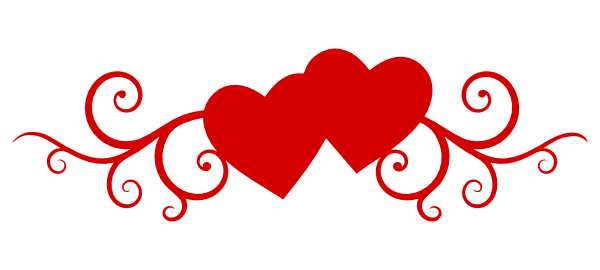 Double Hearts Wedding Clipart.