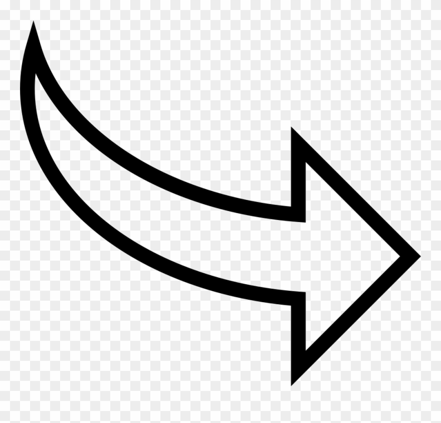 Curved Arrow Pointing To Right Svg Png Icon Free Download.