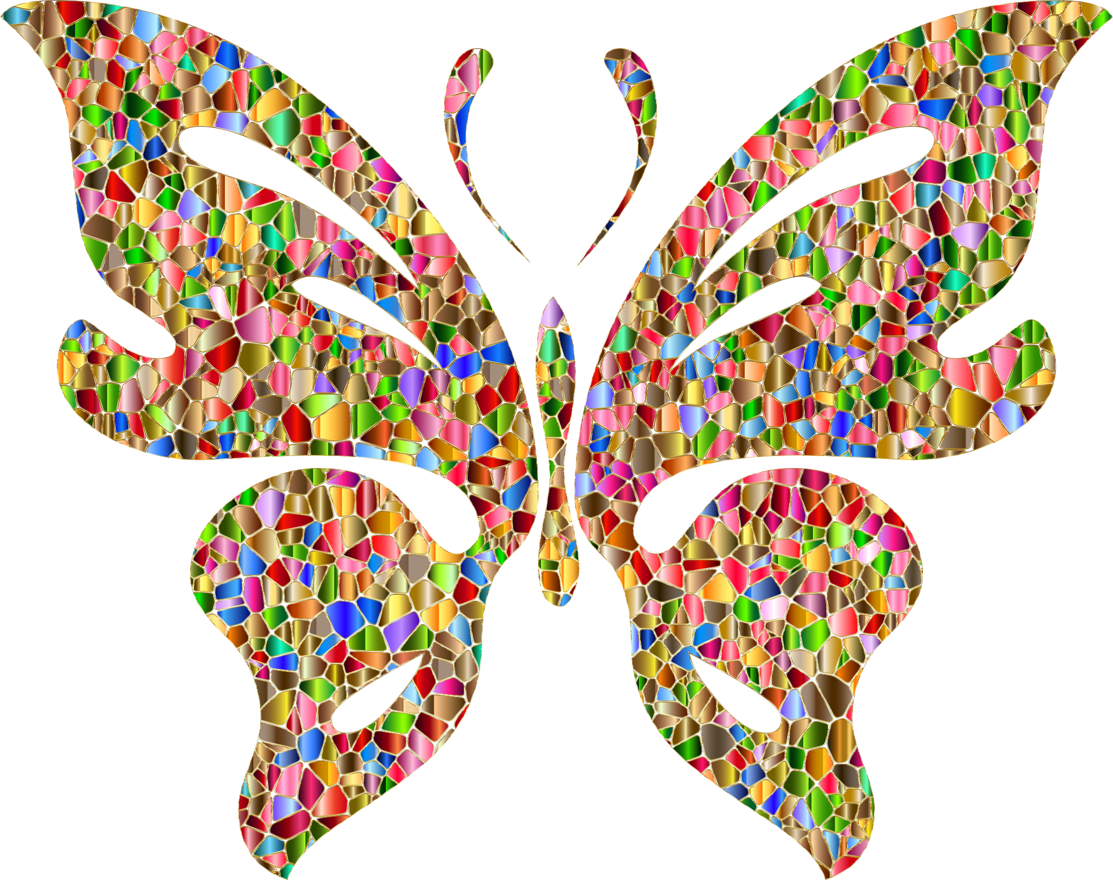 Butterfly Clipart With Beige Background.