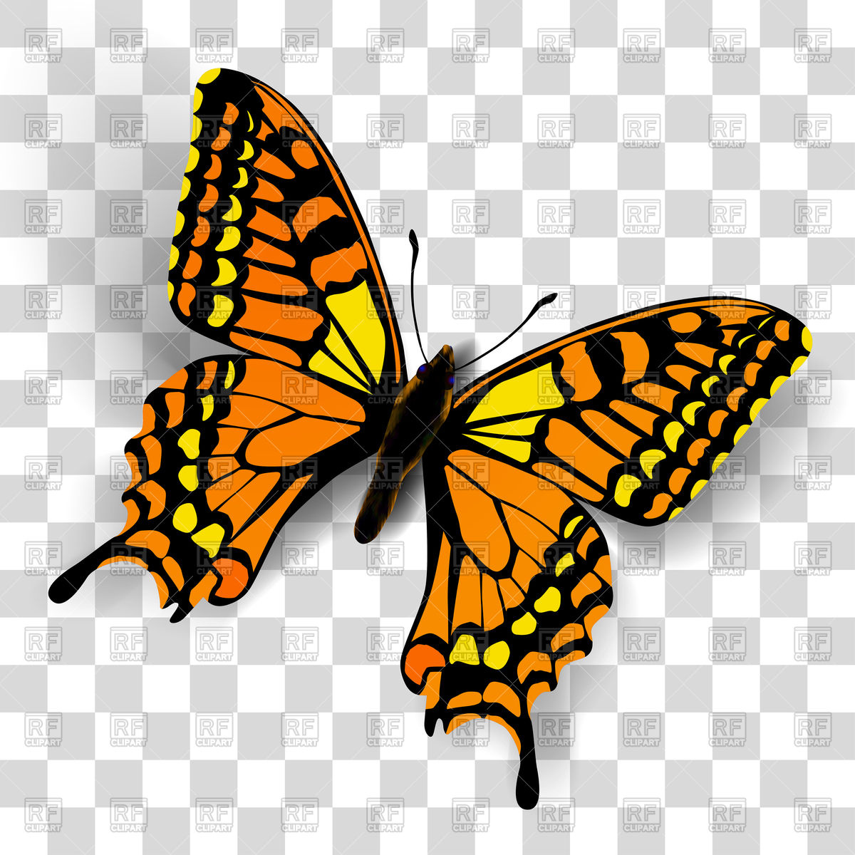 Free Butterfly Clipart With Transparent Background.