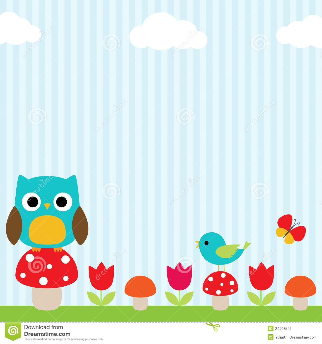 Owl Background Clipart.