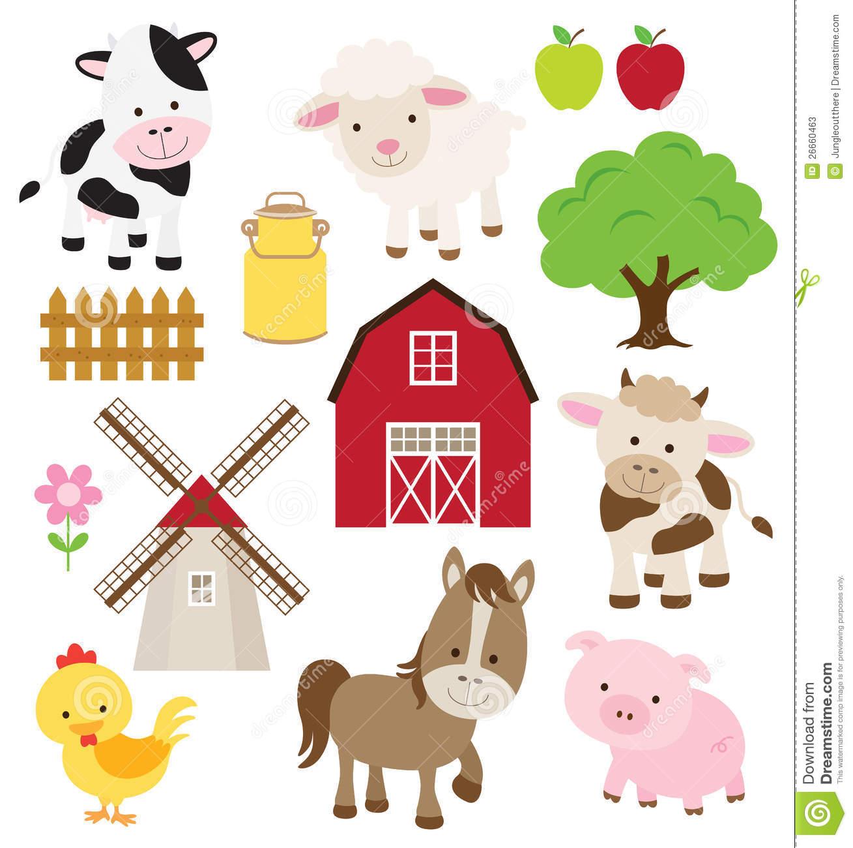 9952 Farm free clipart.