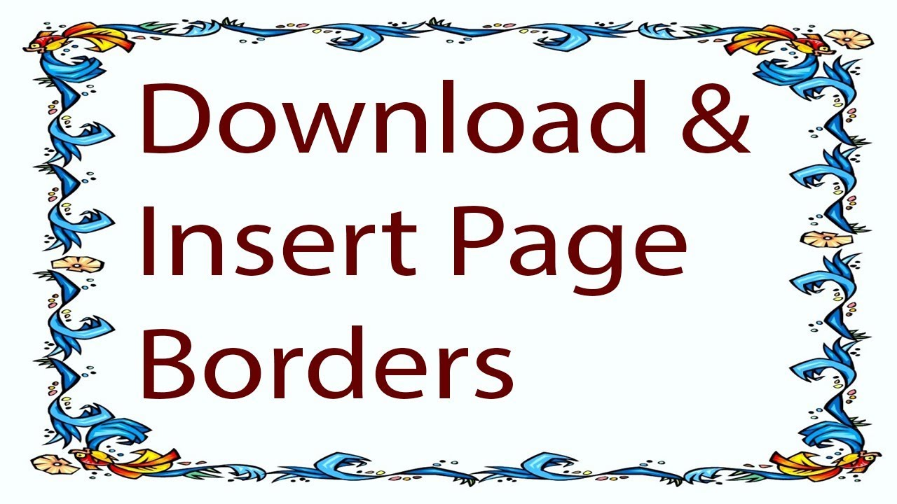page borders for microsoft word 2010 free download.