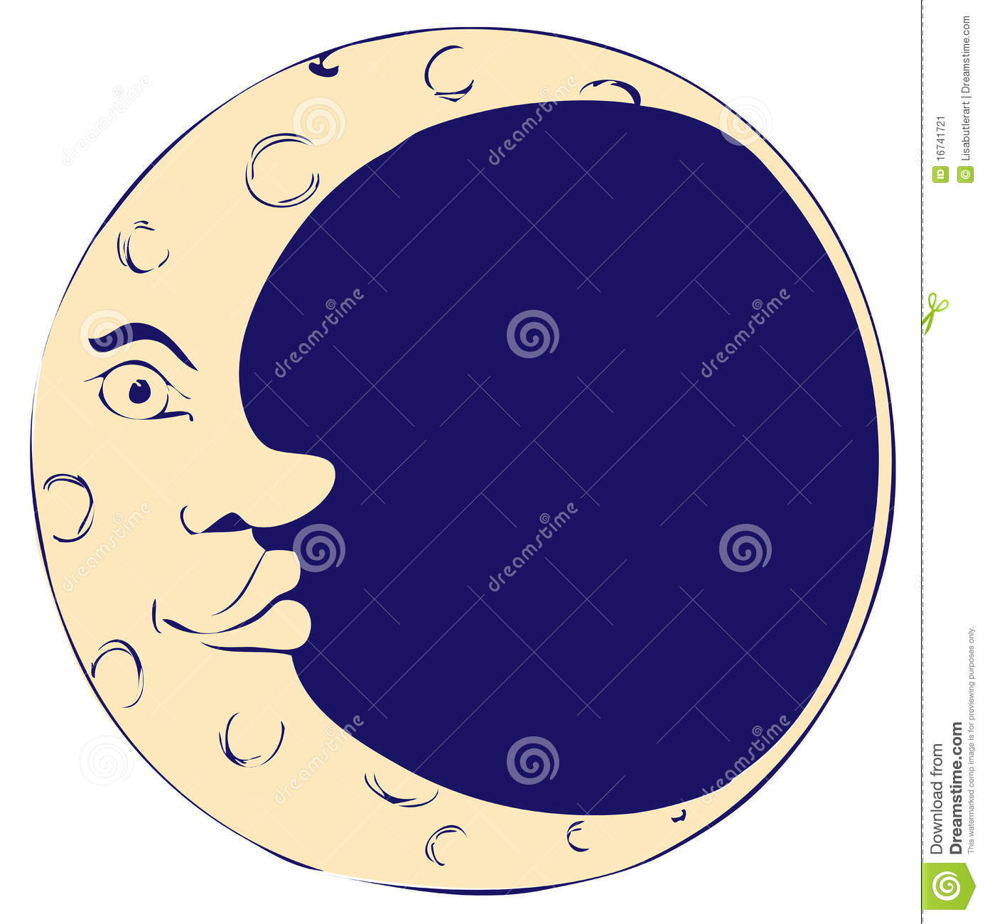 Free Download Clipart Man In The Moon.