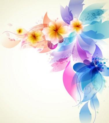 Romantic Flower Background Vector.