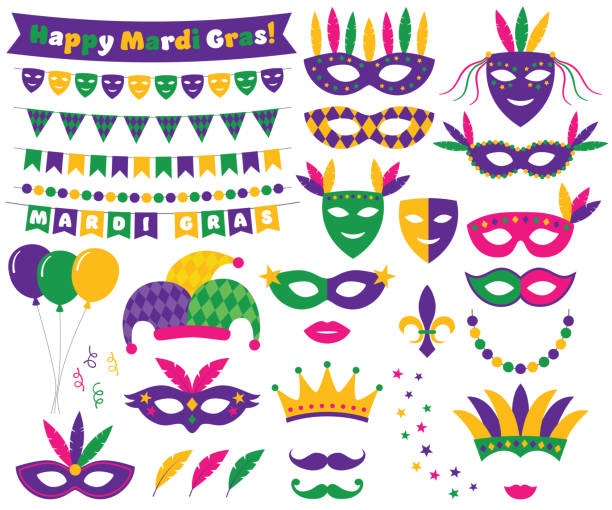 Best Mardi Gras Illustrations, Royalty.