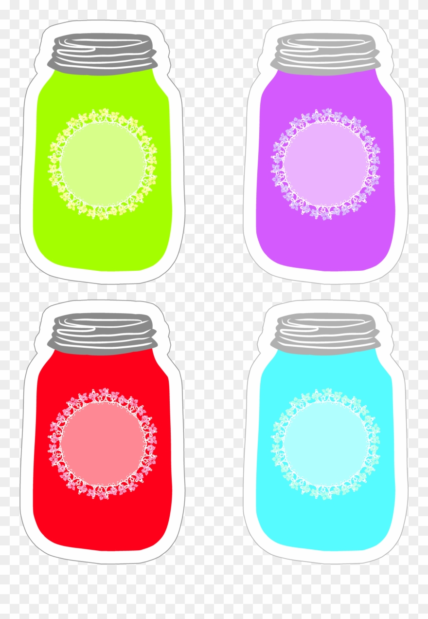 Colorful Mason Jar Tag Collection Free Printable.