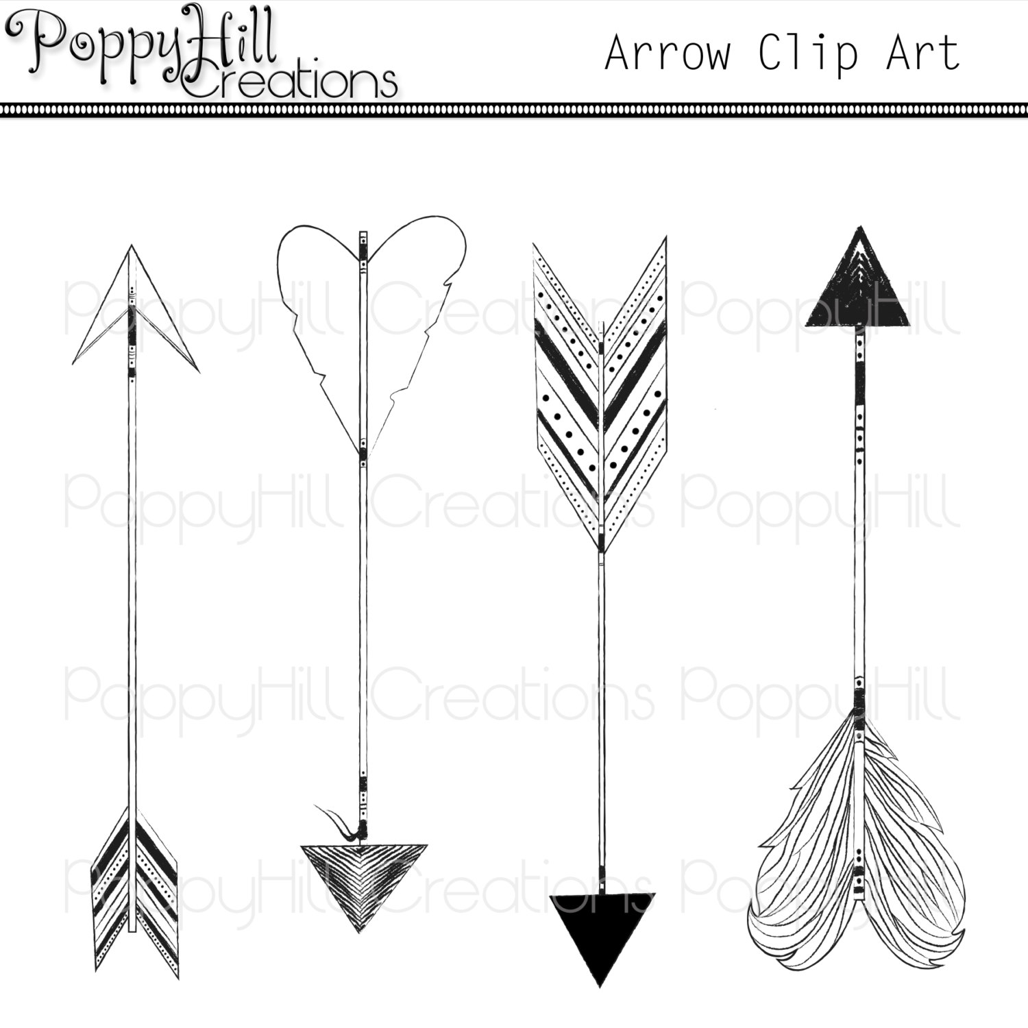Aztec arrow clipart.