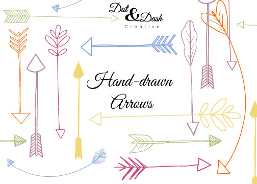 Handdrawn Arrows Clip Art by DotandDashCreative on Etsy, $6.00.