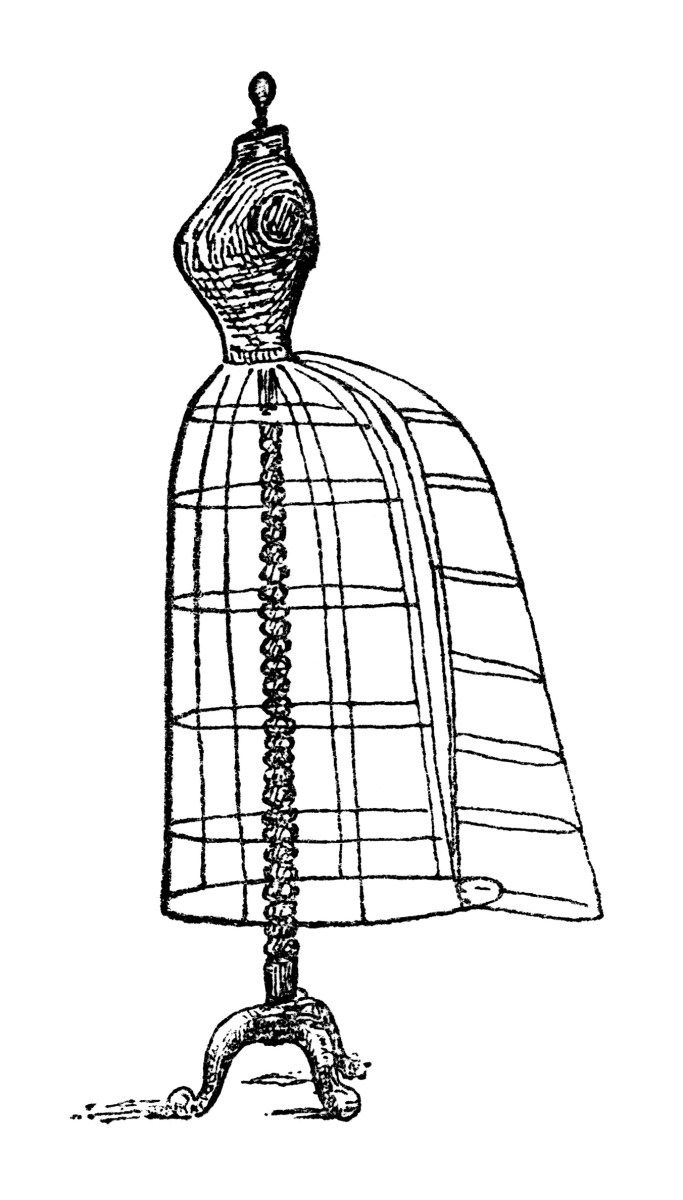Free Vintage Image ~ Dress Form Clip Art.