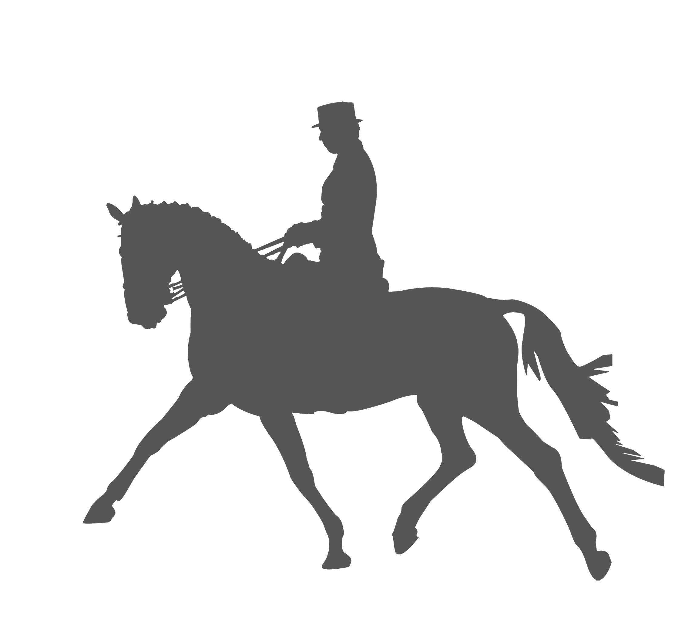 Horse Equestrianism Dressage Silhouette Clip art.