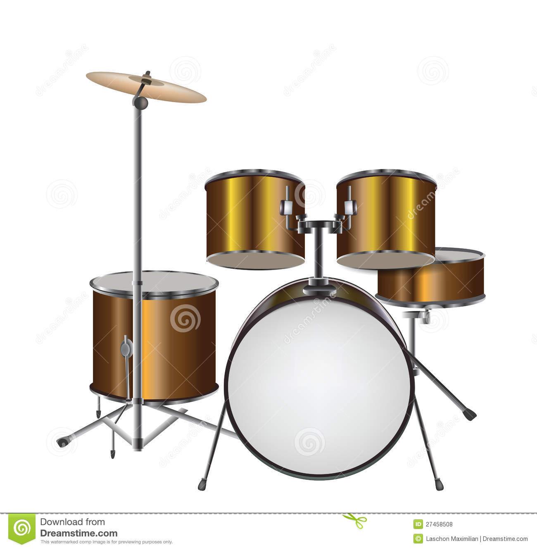 Illustration of Drum Kit stock vector. Illustration of object.