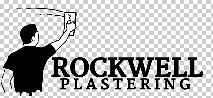 Logo Plasterer Drywall Stucco, worker cartoon PNG clipart.