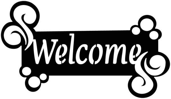 Welcome Sign Outdoor Insert Free DXF file.