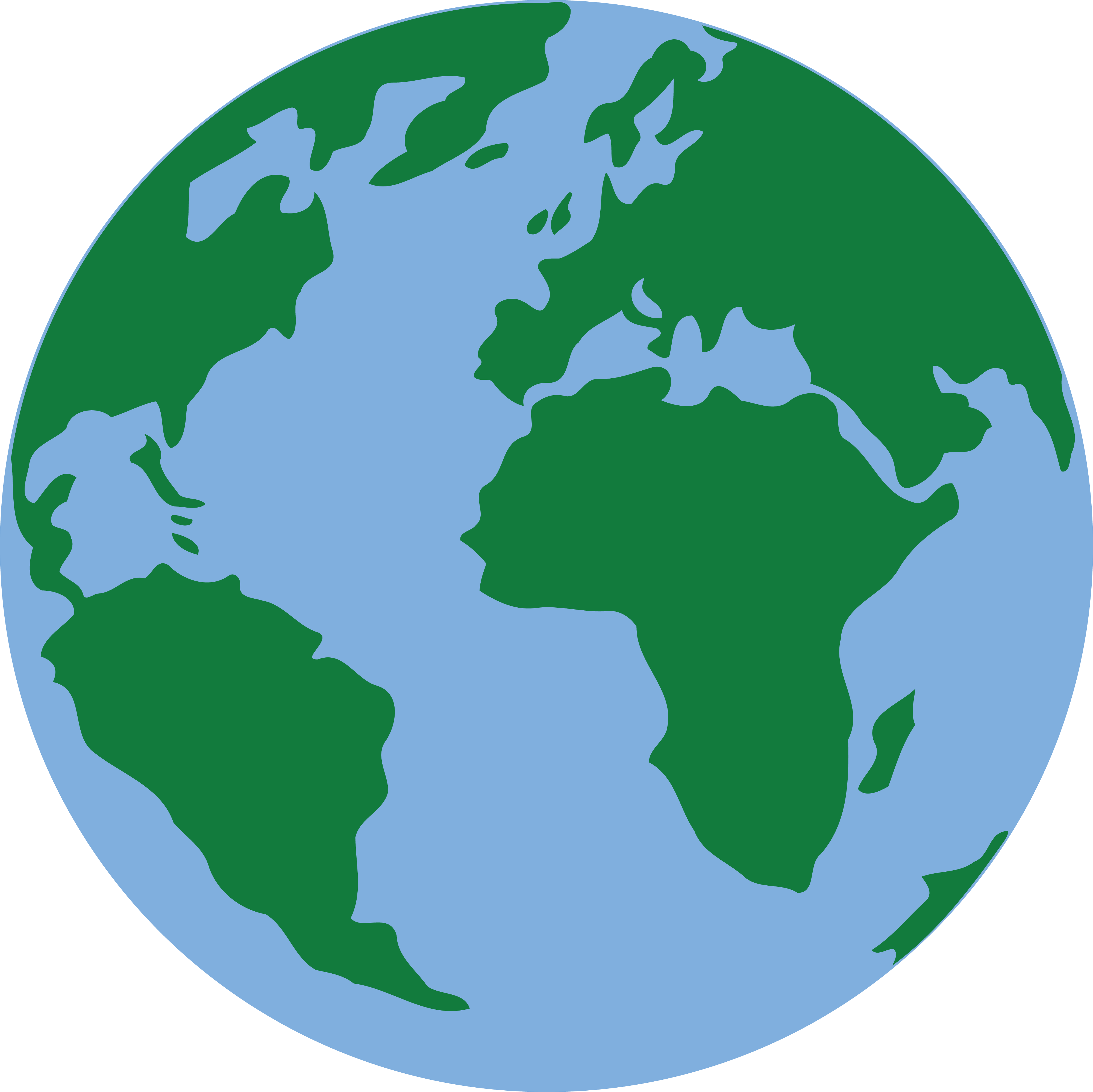 Free Clipart Of A Blue And Green Earth.