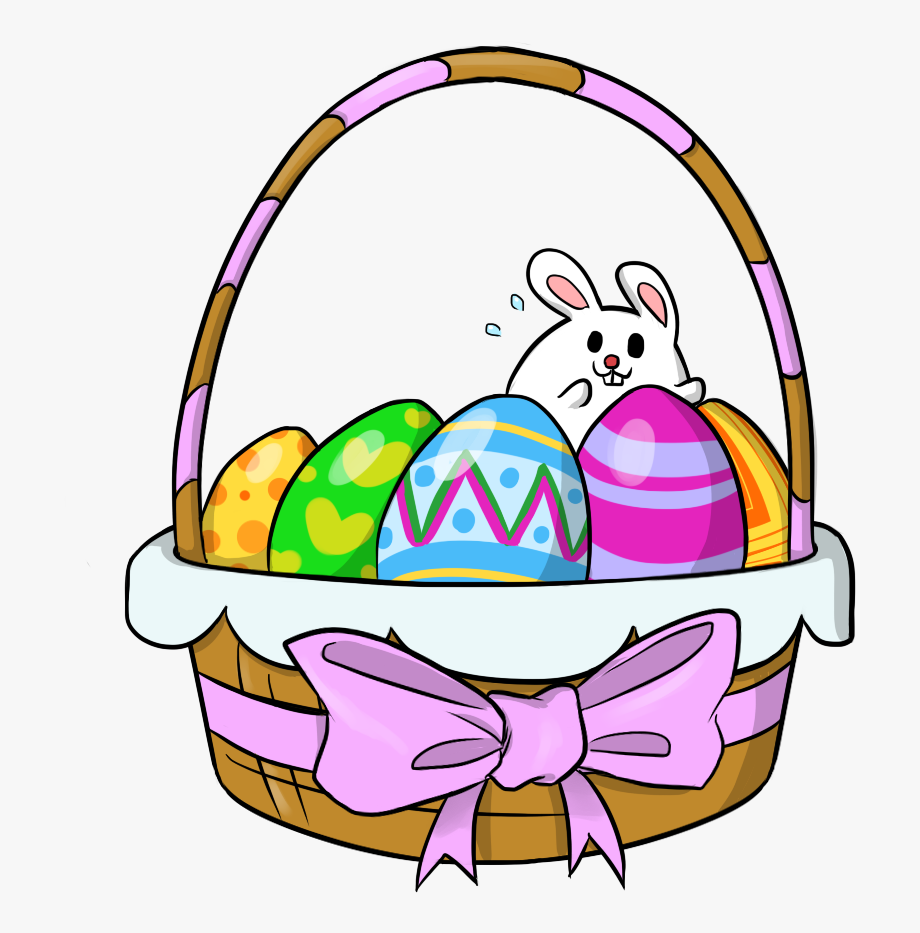 Free To Use Public Domain Easter Baskets Clip Art.