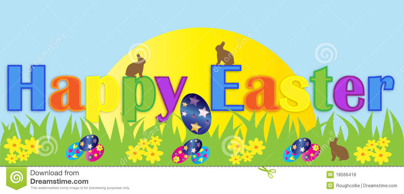Free easter banner clipart 1 » Clipart Station.