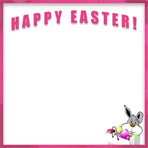 Free Happy Easter Borders.