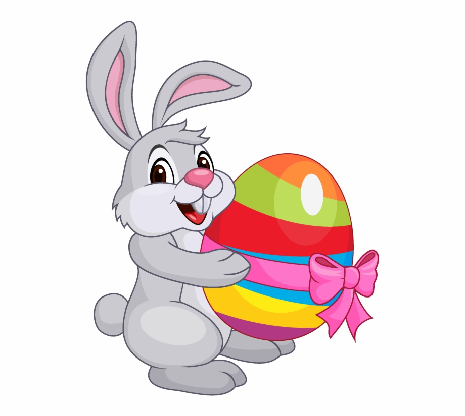 Cartoon Easter Bunny.