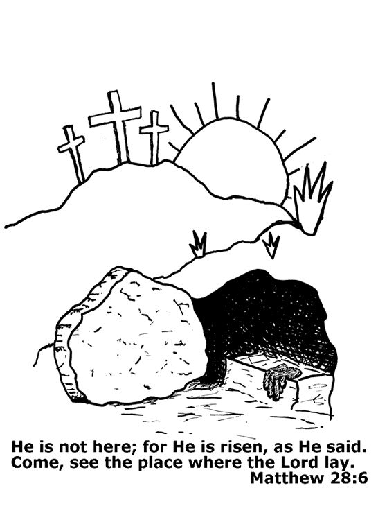 17 Best Images About Jesus Is Alive On Pinterest Easter Coloring Page For Children