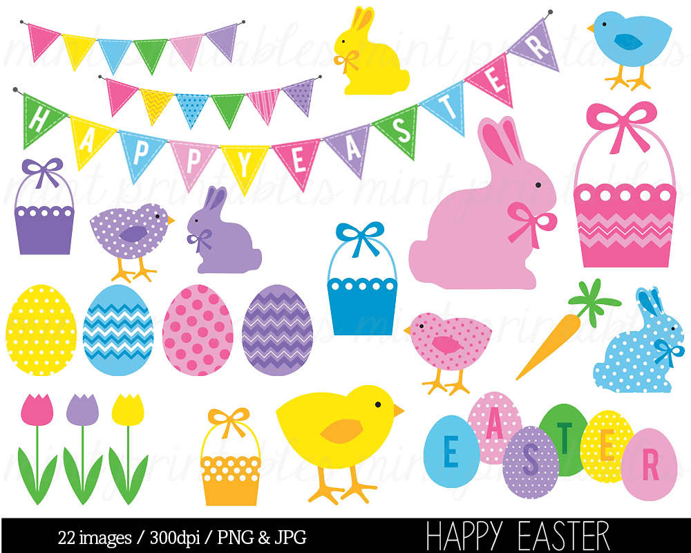 Free Printable Easter Clip Art.