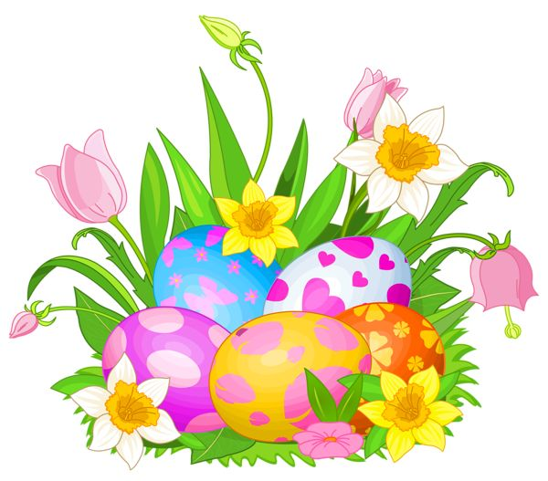 66 Easter Flowers free clipart.