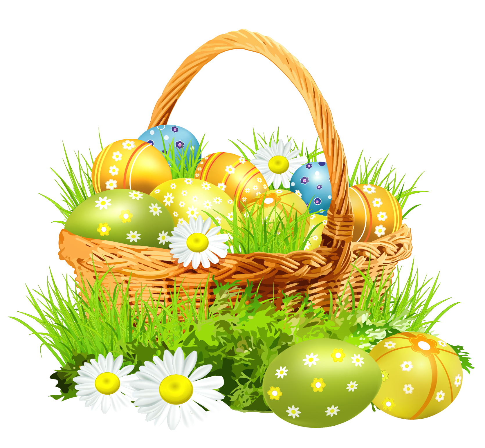 Download Easter Basket Bunny PNG Picture.