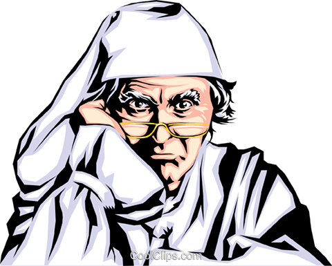 Ebenezer Scrooge Royalty Free Vector Clip Art illustration.