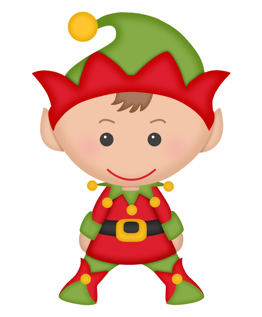Halloween Elves Picture Free Cute Christmas Elf Clipart.