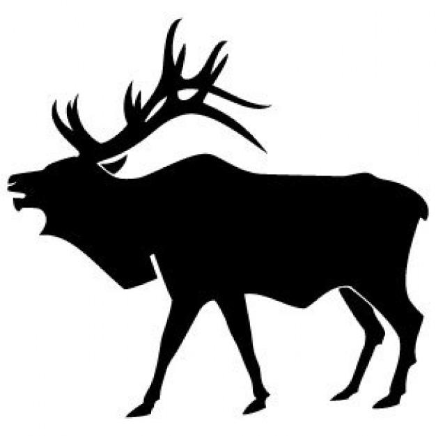 Elk Head Silhouette.