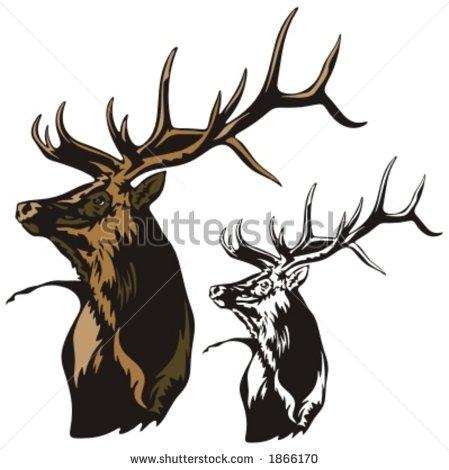 Vector Clip Art of Elk.