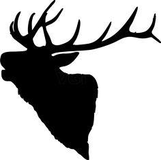 Elk head silhouette clip art. Download free versions of the image.