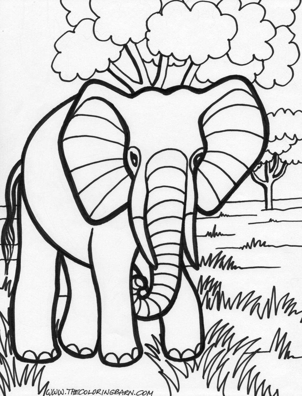 Elephant coloring pages printables free coloring page printable.