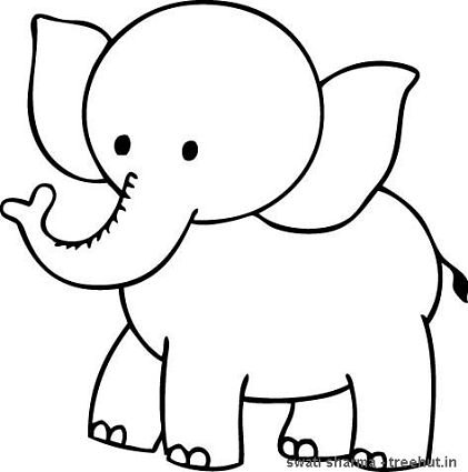 Pics For > Coloring Pages Elephant.