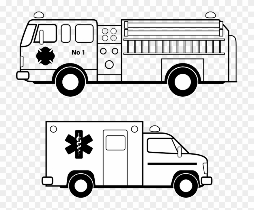 Fire Truck Vector Free Ambulance Emergency Fire Free Clipart.
